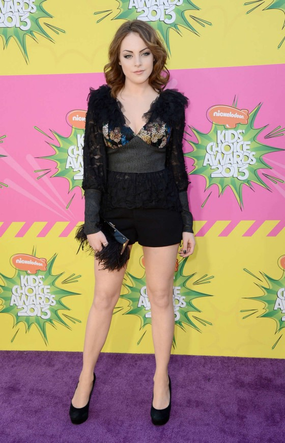 Elizabeth Gillies – 2013 Kids Choice Awards -02
