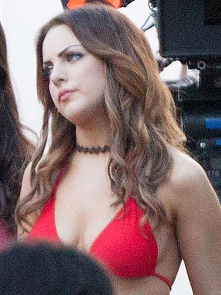 elizabeth gillies in red bikini top on vacation set  03   gotceleb