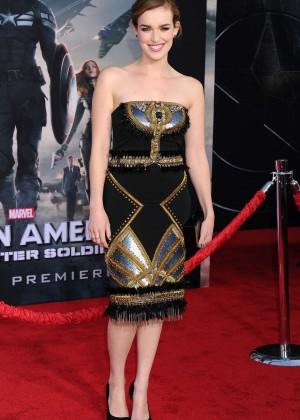 Elizabeth Henstridge - Captain America: The Winter Soldier Premiere -04
