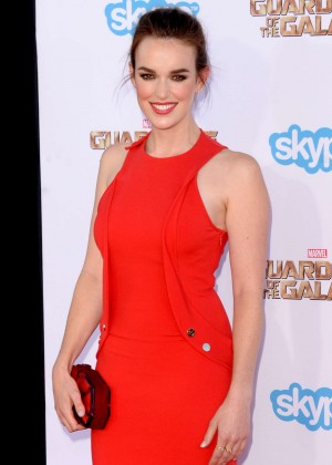 Elizabeth Henstridge - Premiere Of Marvel's 'Guardians Of The Galaxy' in Hollywood