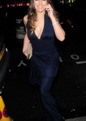 Elizabeth Hurley at Mandarin Oriental Restaurant in London
