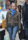Elizabeth Olsen - Out walking in the east village New York -04