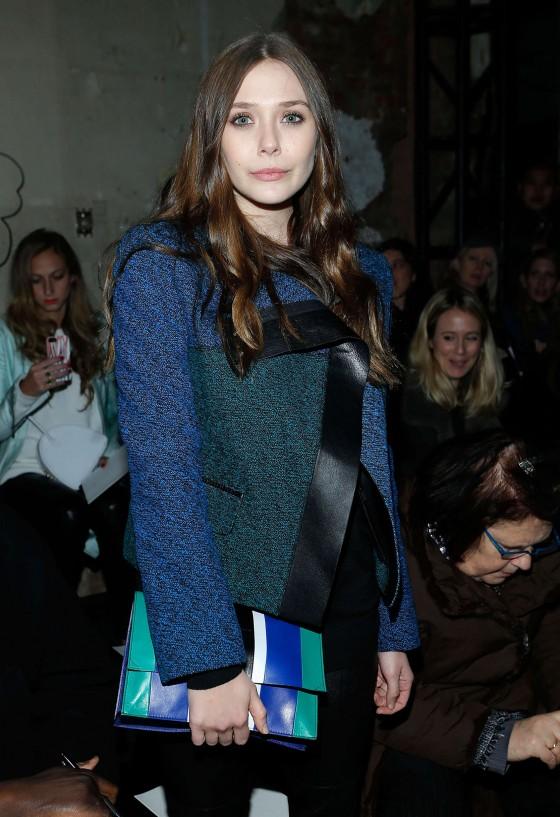 Elizabeth Olsen - Proenza Schouler Fall 2013 Fashion Show -04
