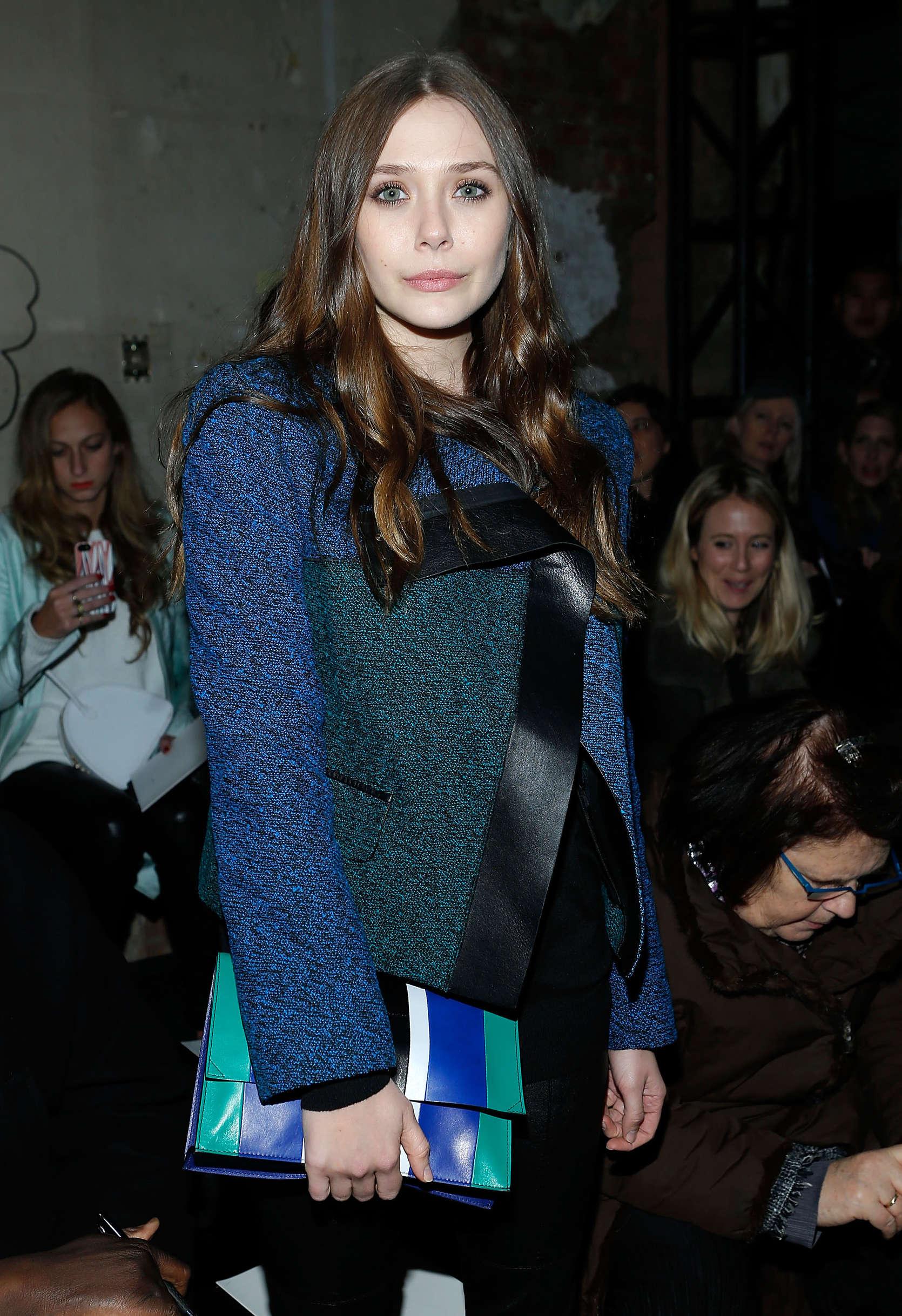 Elizabeth Olsen 2013 : Elizabeth Olsen – Proenza Schouler Fall 2013 Fashion Show -04
