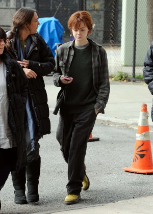 Elle Fanning on Three Generations set -15