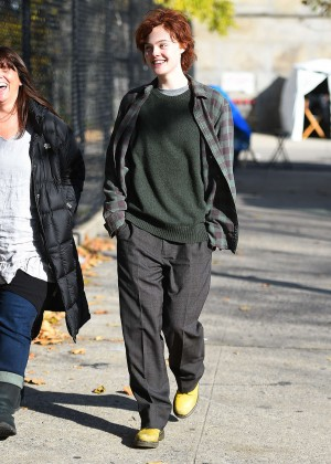 Elle Fanning on Three Generations set -19