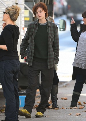 Elle Fanning on Three Generations set -21