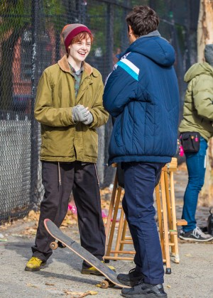 Elle Fanning on Three Generations set -53