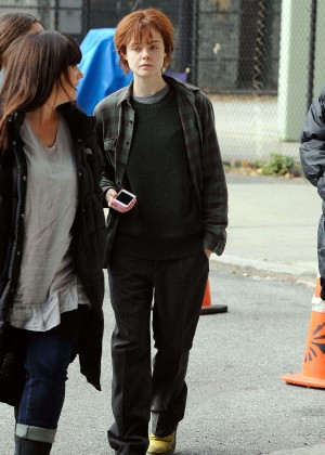 Elle Fanning on Three Generations set -57