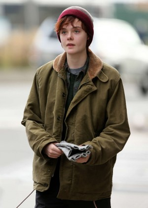 Elle Fanning on Three Generations set -58