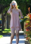 Elle Fanning Shopping Candids at a Halloween Store -06