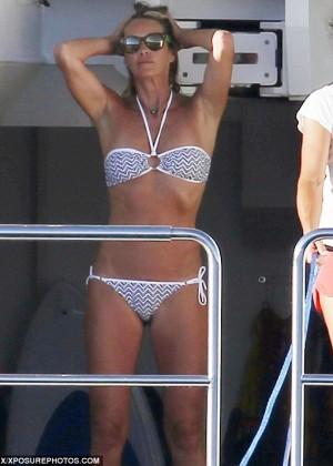 Elle Macpherson Bikini: in Sardinia 2014 -01