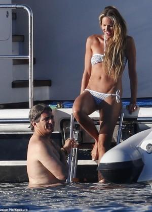 Elle Macpherson Bikini: in Sardinia 2014 -09