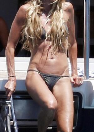 Elle Macpherson Bikini: in Sardinia 2014 -18