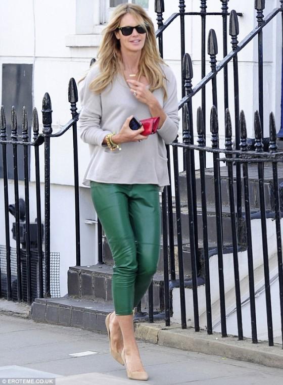 Elle Macpherson out in London
