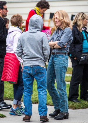 Ellen Page and Julianne Moore on Freeheld set -10