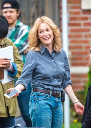 Ellen Page and Julianne Moore on Freeheld set -12