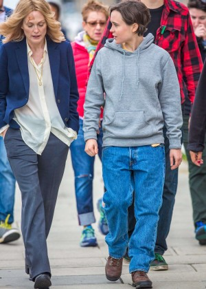 Ellen Page and Julianne Moore on Freeheld set -29