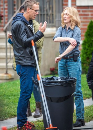 Ellen Page and Julianne Moore on Freeheld set -31
