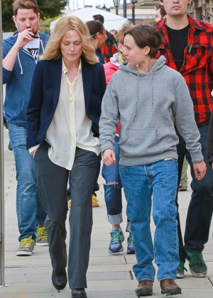 Ellen Page and Julianne Moore on Freeheld set -33