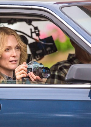 Ellen Page and Julianne Moore on Freeheld set -38