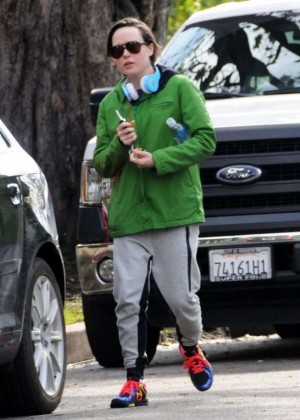 Ellen Page - Leaving a Gym in Los Angeles