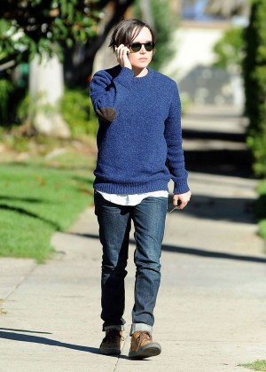 Ellen Page in Jeans and Sweaters out in Los Angeles
