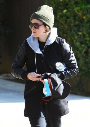 Ellen Page Street Style out in LA