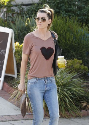 Ellen Pompeo in Jeans Leaving a Salon in West Hollywood
