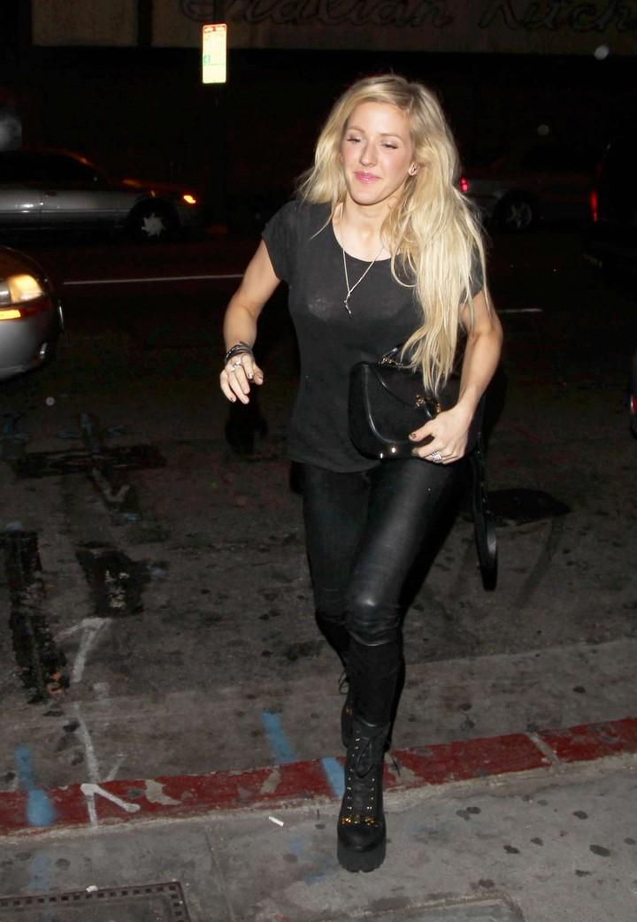 Ellie Goulding in Leather Pants -05