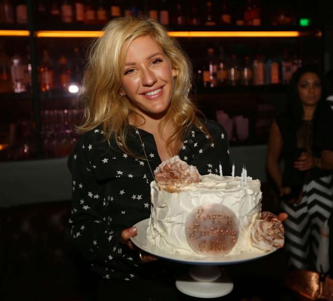 Ellie Goulding - Celebrating Her Birthday at Basement Bowl in Miami Beach