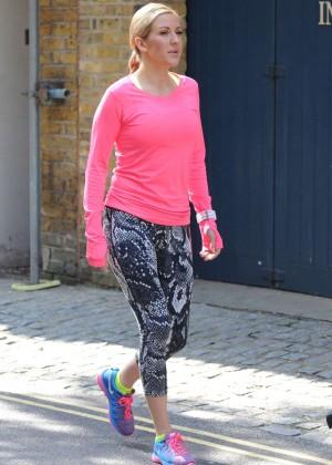 Ellie Goulding - Filming a Nike Commercial in London