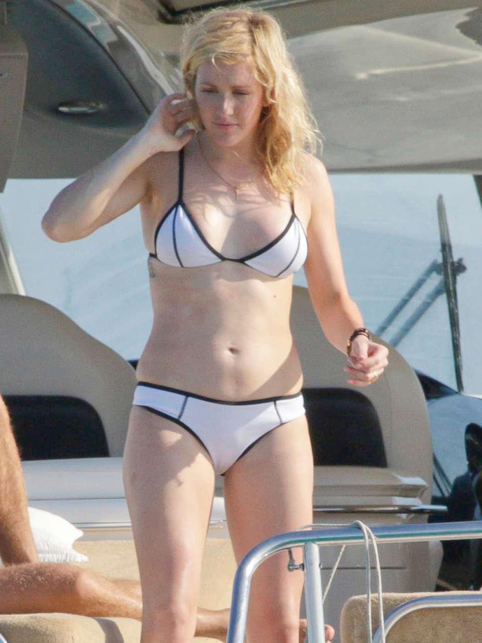 Ellie Goulding in a Bikini on a Yacht in Spain -07 - GotCeleb