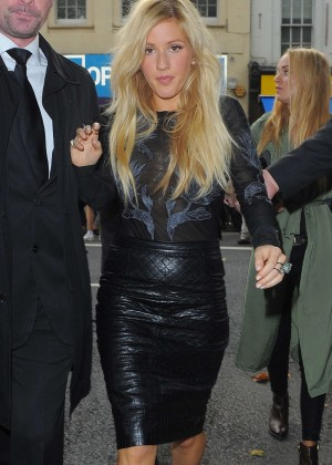 Ellie Goulding - Topshop Unique Show SS 2015 London Fashion Week
