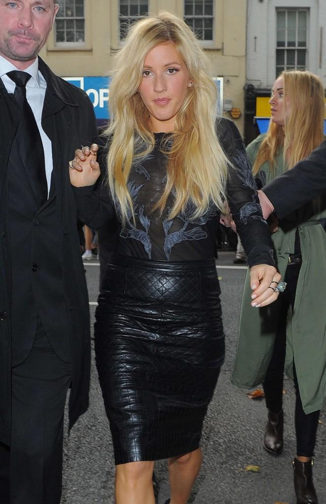 Ellie Goulding - Topshop Unique Show SS 2015 London Fashion Week