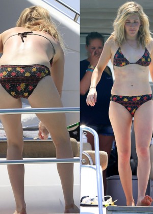 Ellie Goulding in Floral Bikini in Ibiza