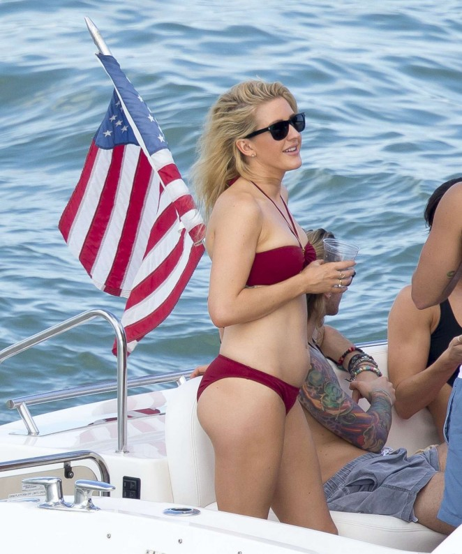 Ellie Goulding in Red Bikini -01