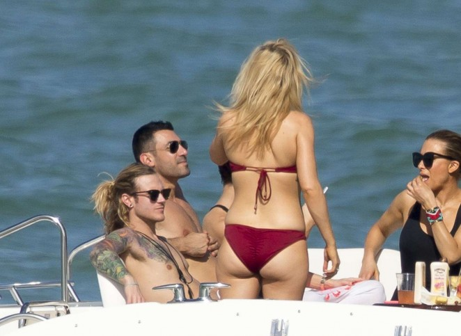 Ellie Goulding in Red Bikini -02