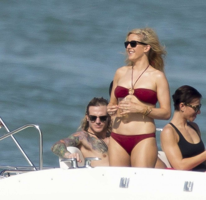 Ellie Goulding in Red Bikini -03