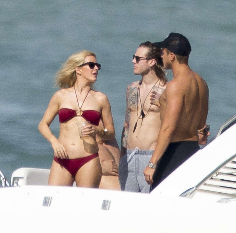 Ellie Goulding 2015 : Ellie Goulding in Red Bikini -08