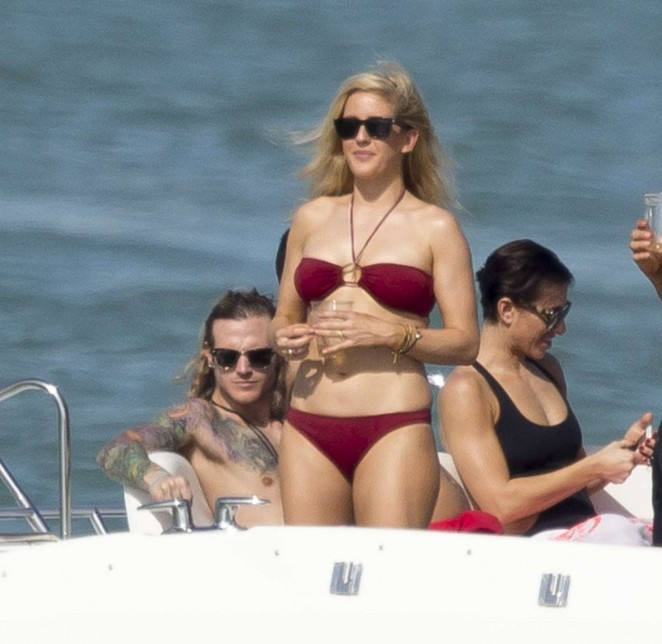 Ellie Goulding in Red Bikini -10