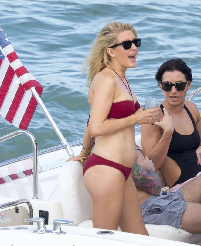 Ellie Goulding 2015 : Ellie Goulding in Red Bikini -11