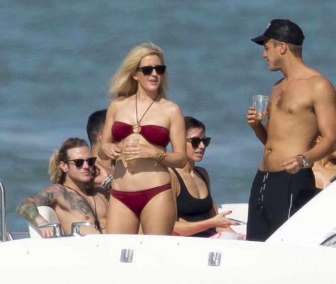Ellie Goulding in Red Bikini -13