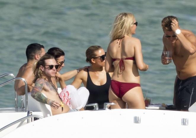 Ellie Goulding in Red Bikini -17