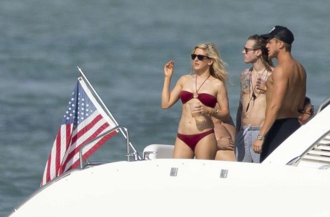 Ellie Goulding in Red Bikini -18