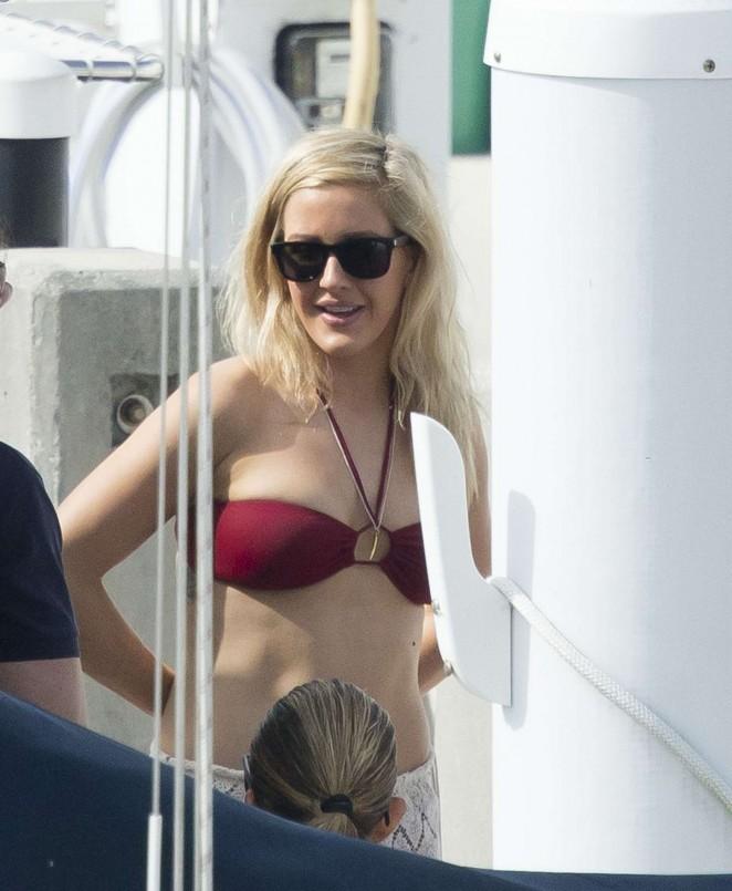 Ellie Goulding in Red Bikini -25