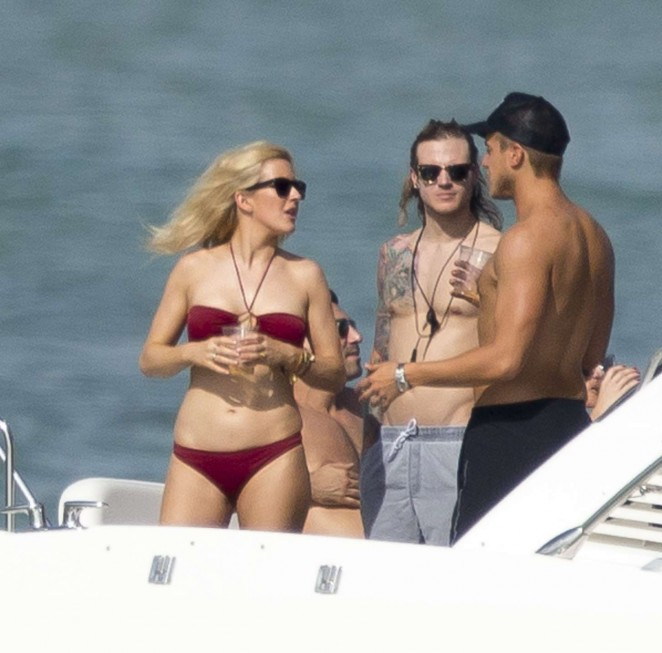 Ellie Goulding 2015 : Ellie Goulding in Red Bikini -28
