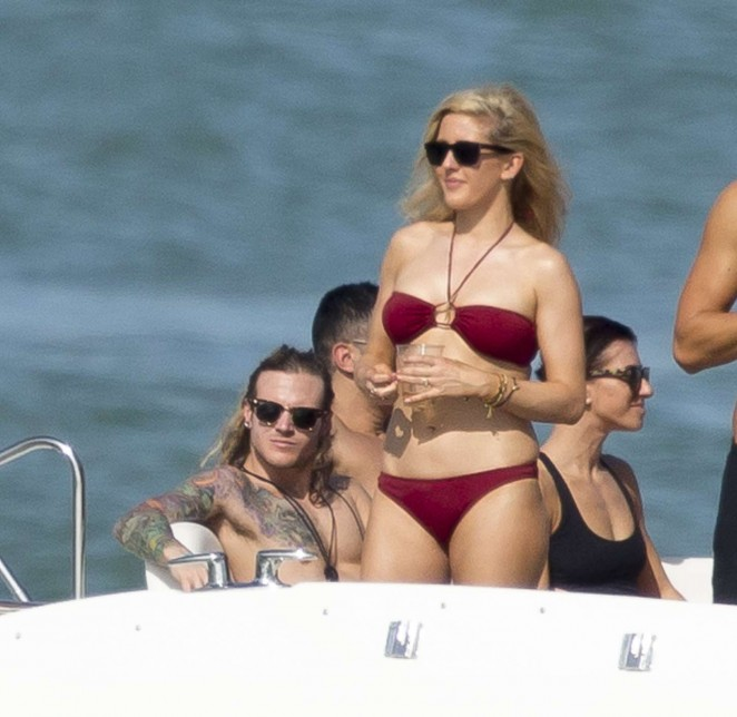 Ellie Goulding in Red Bikini -31