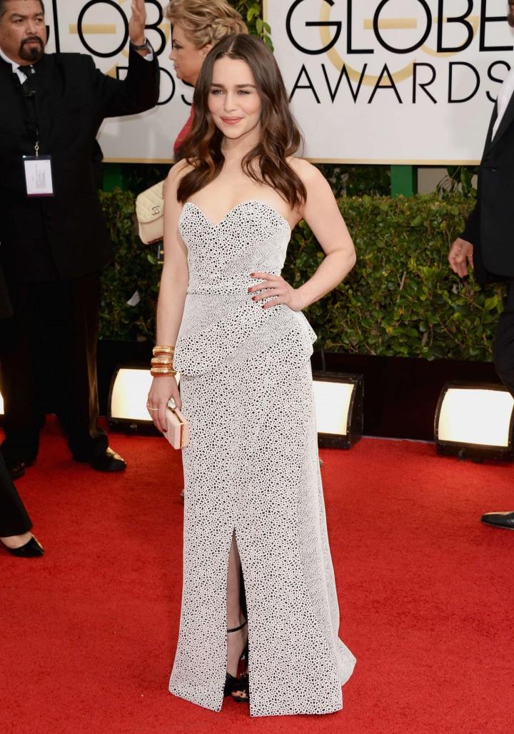 Emilia Clarke: Golden Globe 2014 Awards -11