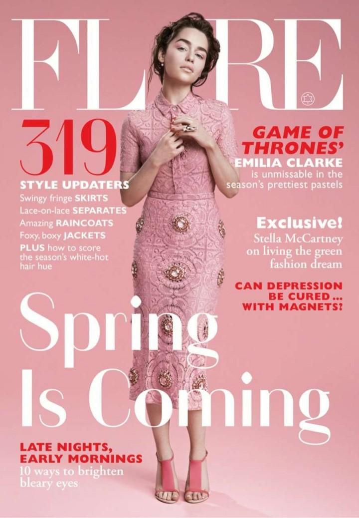 Emilia Clarke: Flare Magazine -04